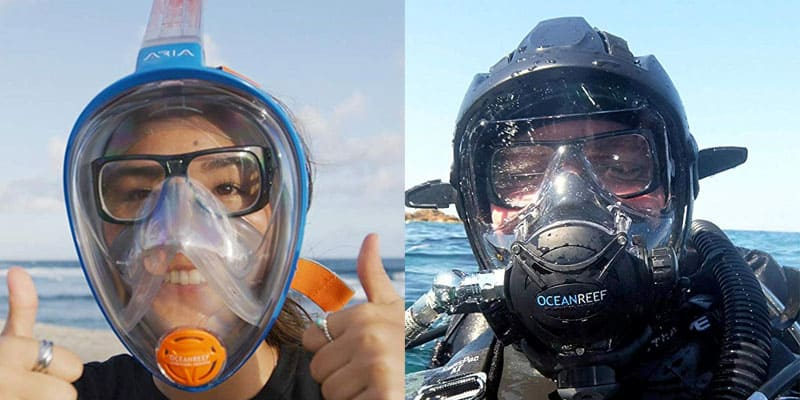snorkel with glasses success