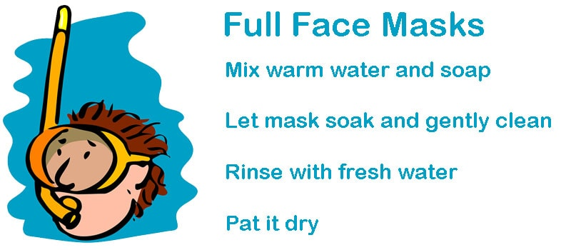 clean full face snorkel mask